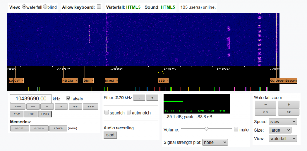 Es'hail 2 / QO-100 - WebSDR